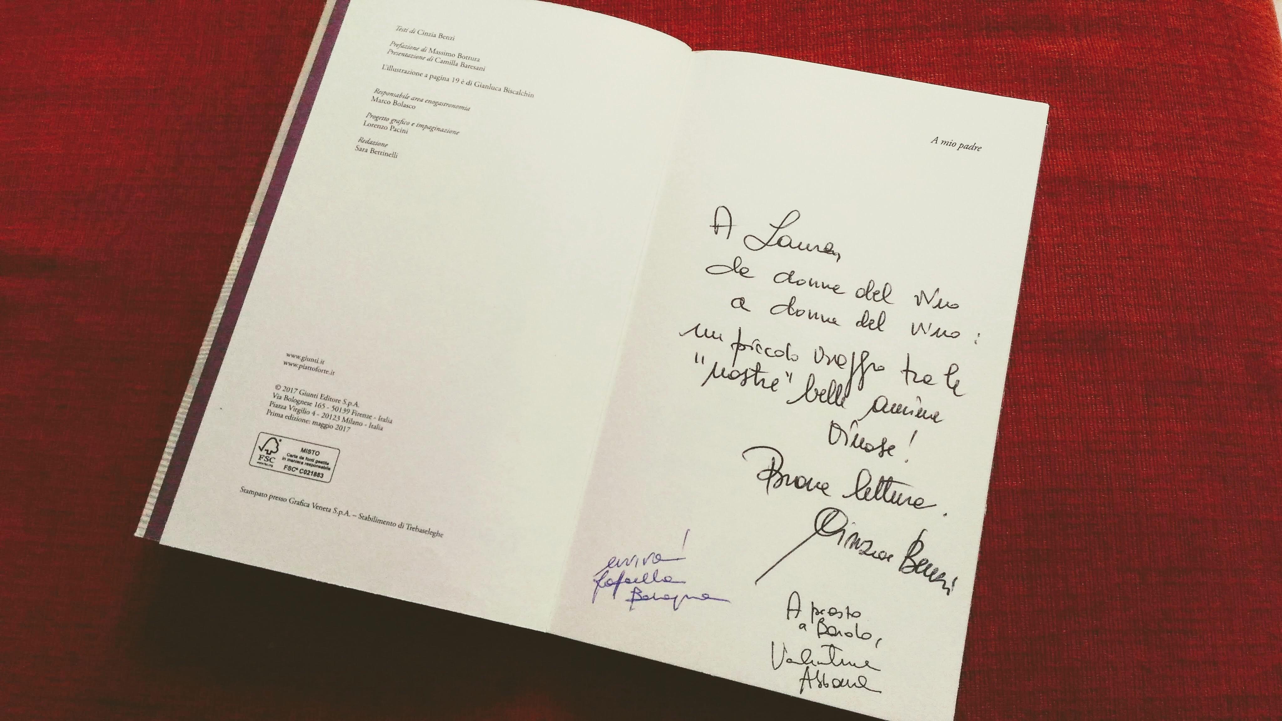 Dedica di Cinzia Benzi scrittrice